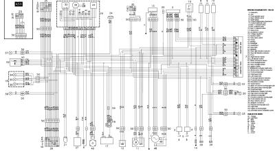 Схема электрооборудования мотоциклов Aprilia RS 250