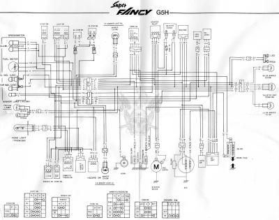 Руководство пользователя скутера Kymco Super Fancy найти вам не удастся, а вот схему электрооборудования скутера...