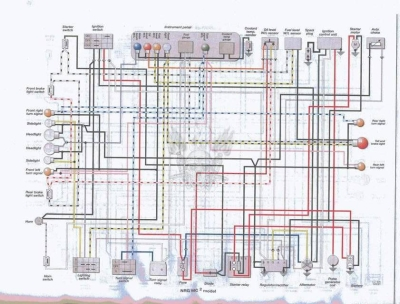 Схема электрооборудования скутеров Piaggio NRG MC2.
