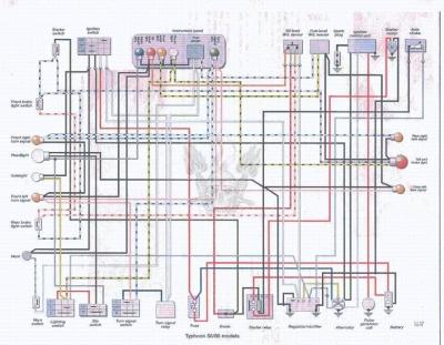 Электрическая схема мотороллера.