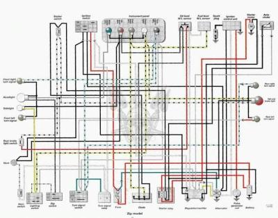 Схема электрооборудования скутеров Piaggio ZIP Электросхемы.  Мото МЕТА.