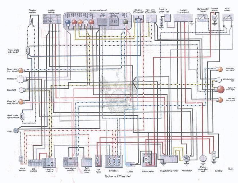 Схема электрическая хонда