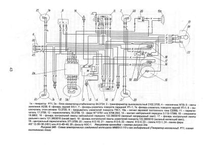 электрическая схема мотоцикла урал 12 вольт